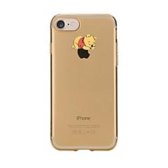 Na Etui Pokrowce Przezroczyste Wzór Etui na tył Kılıf Zabawa z logiem Apple Rysunek Miękkie Poliuretan termoplastyczny na AppleiPhone 7