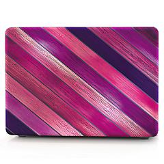MacBook Hoes voor Macbook Houtnerf Strepen polycarbonaat Materiaal