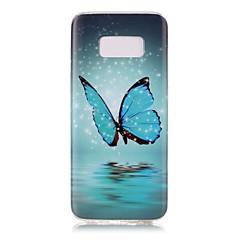 Hoesje voor Samsung Galaxy S8 S8 plus gloeien in het donker patroon hoesje achterkant hoesje vlinder Zachte TPU voor S7 Rand S7 S6 Rand S6