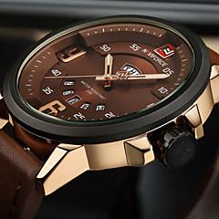 NAVIFORCE Herren Sportuhr Militäruhr Modeuhr Armbanduhr Armbanduhren für den Alltag Japanisch Quartz Kalender Großes Ziffernblatt PU Band