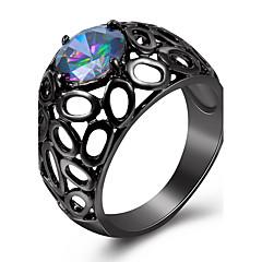 Statementringen Ring imitatie Diamond Basisontwerp Luxe Sieraden Eenvoudige Stijl Brits Klassiek Modieus PERSGepersonaliseerd Euramerican