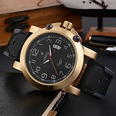 SANEESI Men's Fashion Watch Wristwatch Luxucy Elgant Unique Creative Cool Watch Quartz Sport Big Dial Calendar Business Classic PU Band Watches