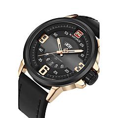 NAVIFORCE Heren Sporthorloge Militair horloge Modieus horloge Polshorloge Vrijetijdshorloge Japans Kwarts Kalender Grote wijzerplaat PU