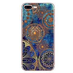 Voor apple iphone 7 7 plus 6s 6 plus hoesje cover mandala patroon hd beschilderd tpu materiaal zacht geval telefoon hoesje