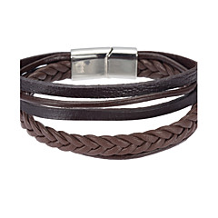 Heren Wikkelarmbanden Lederen armbanden Sieraden Natuur Kostuum juwelen Modieus Leder Legering Sieraden Voor Speciale gelegenheden