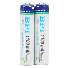 Bpi aaa 1.2v 1100mah genopladeligt batteri