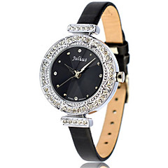 Women's Fashion Watch Bracelet Watch Japanese Quartz Water Resistant / Water Proof Leather Band Black White Gold