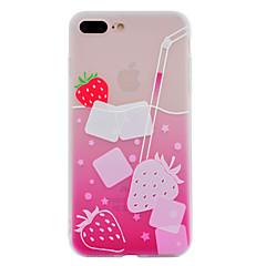 För apple iphone 7 plus 7 tpu material sommar c dryck telefonväska 6 plus 6 plus 6s 6