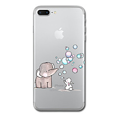For iPhone 7 Plus 7 Case Cover Transparent Pattern Back Cover Case Elephant Animal Soft TPU for iPhone 6s Plus 6s 6 Plus 6 5s 5 SE
