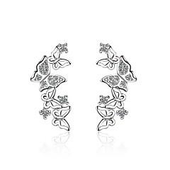 Γυναικεία Κουμπωτά Σκουλαρίκια Cubic Zirconia Άνιμαλ Ζιρκονίτης Επιμεταλλωμένο με Πλατίνα Bowknot Shape Κοσμήματα ΓιαΠάρτι/Βράδυ
