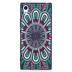 Sony xperia xa1 xz cover dækker nationalt vinddisk mønster malet præget følelse tpu blødt tilfælde telefon etui