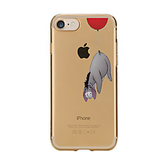 Per Custodie cover Transparente Fantasia/disegno Custodia posteriore Custodia Cartoni animati Morbido TPU per AppleiPhone 7 Plus iPhone 7