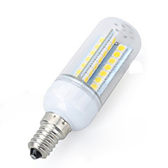 Marsing E14 6W 600lm LED 56-5050 Cold White/Warm White Light Corn Bulb AC 220-240V1PCS