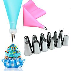 14 darab Sütő és tészta eszközök Virág Cake Rozsdamentes acél Valentin nap Esküvő Születésnap