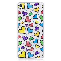 Hoesje voor Sony Xperia m2 xa hoesje hoesje liefde patroon geverfd hoge penetratie tpu materiaal imd proces zachte hoesje telefoon hoesje