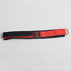 Trend sport stil nylon børn rød sort watch band