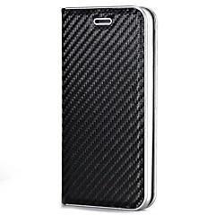 Θήκη για Apple iphone 7 συν 7 κάτοχος κάρτας μαγνητικό πλήρες σώμα στερεό χρώμα σκληρό ινών άνθρακα 6s συν 6 plus 6 6s 5 5s se