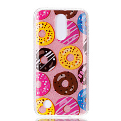 Case for lg k10 (2017) k8 (2017) dupla imd tok háti borító tok donut minta puha tpu