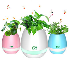 YWXLIGHT® New Bluetooth Speaker Smart Colorful Piano Music Flower Pot Touch Induction Creative Gift Indoor Green Plant Music Potted Plant