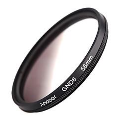 Andoer forme circulaire de 58 mm densité neutre graduée gnd8 filtre gris gradué pour canon nikon dslr camera