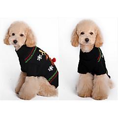 Perro Suéteres Ropa para Perro Navidad Caricatura Negro Marrón Red