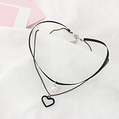 여성용 초커 목걸이 모조 진주 Heart Shape 합금 패션 Euramerican 의상 보석 보석류 제품 일상