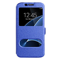 Voor Samsung Galaxy S8 Plus S8 Case Cover met Windows Full Body Case Solid Color Hard PU Leer voor Samsung Galaxy S7 Kant S7 S6 Kant S6 S5