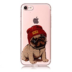 Case For IPhone 7 7Plus 6S 6 6Plus 6S Plus SE 5S 5 Case Cover Dog Pattern High Transparent TPU Material IMD Craft Chiffon Phone Case