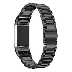 Fitbit Ladung 2 Edelstahl Ersatz Zubehör Band für Fitbit Ladung 2 -schwarz