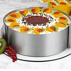 26Peça/Conjunto Moldes de bolos Redonda Inovador Para utensílios de cozinha para bolo Aço Inoxidável AçoMulti funções Anti-Aderente