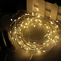 3M 30led batería 3AA 4.5V decoración accionada impermeable llevó el cobre cadena de luces de alambre para la Navidad del festival del