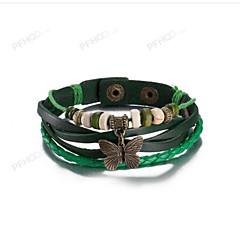 Dame Herre Læder Armbånd Smykker Vintage Læder Butterfly Form Smykker Til Hverdag