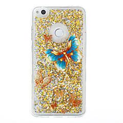 ja huawei p9 lite P8 lite suojus perhonen malli flash-jauhe juoksuhiekkaa TPU-materiaali puhelimen tapauksessa P8 lite (2017)