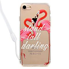 Voor iPhone 8 iPhone 8 Plus Hoesje cover Transparant Patroon Achterkantje hoesje Flamingo Hard Acryl voor Apple iPhone 7s Plus iPhone 8
