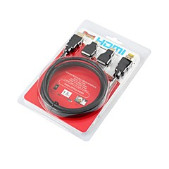 HDMI 1.4 Kábel, HDMI 1.4 to HDMI 1.4 Mini HDMI Micro HDMI Kábel Papa - papa 1.5M (5Ft)
