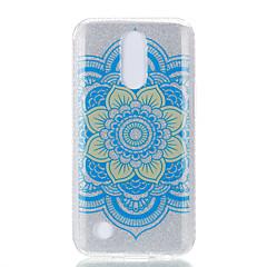 Taske til lg k10 (2017) k8 (2017) dobbelt imd taske bagcover case datura blomst mønster soft tpu