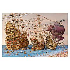Jigsaw Puzzles Jigsaw Puzzle Building Blocks DIY Toys Ship Wooden