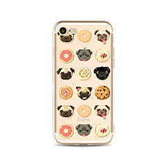 Θήκη για το iphone 7 plus 7 κάλυμμα διαφανές πρότυπο πίσω κάλυμμα περίπτωση τροφή σκυλί τροφίμων μαλακό tpu για apple iphone 6s συν 6 plus