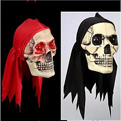 Halloween dekoráció elemek ezek trükk trükk játék szeme ragyog piros sál koponyák szokatlan kellékek terror szín véletlenszerű