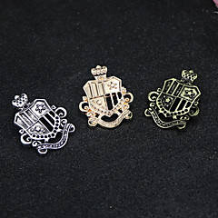 Miesten Naisten Rintaneulat Logo Muoti Vintage Euramerican pukukorut Metalliseos Korut Käyttötarkoitus Arkikäyttö Kausaliteetti Rento/arki