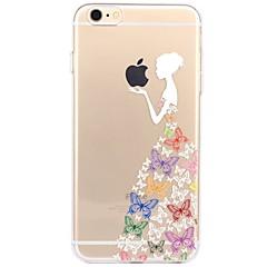 Tok az iphone 7 6 játékban alma logo tpu szexi hölgy puha ultra-vékony hátlap burkolat fedezésére iphone 7 plusz 6 6s plusz se 5s 5 5c 4s