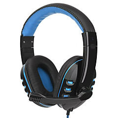 Portable Gaming Headset with Microphone Super Bass Stereo Headphone Over-ear Earphone Wired Headphone for Computer Gamer