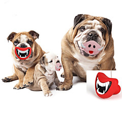 Παιχνίδι για σκύλους Παιχνίδια για κατοικίδια Παιχνίδια για μάσημα Χείλη Λάστιχο Κόκκινο Ροζ