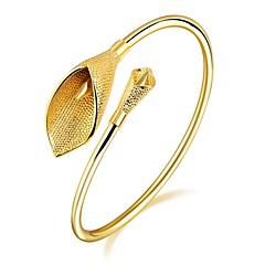 Női Bilincs karkötők Kocka cirkónia Alap Divat Imádni való luxus ékszer Cirkonium Arannyal bevont Rózsa arany bevonattal Tube Shape