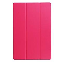 Solid color patroon pu leren hoesje met stand voor acre b3-a40 10 inch tablet pc