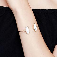 Γυναικεία Χειροπέδες Βραχιόλια Κοσμήματα Μοντέρνα ταινία Κοσμήματα Υποαλλερικό Επιχρυσωμένο Ανοξείδωτο ατσάλι Κράμα Oval Shape Κοσμήματα