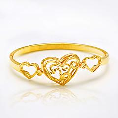 Damskie Bransoletki bangle Miłość Modny Postarzane Osobiste luksusowa biżuteria Pozłacane Heart Shape Flower Shape Rose Biżuteria NaŚlub