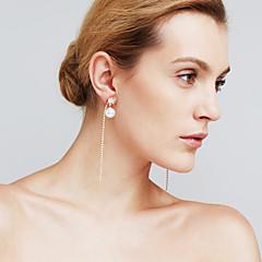 Dame Dråbeøreringe Imiteret Diamant Mode Personaliseret Euro-Amerikansk Movie smykker Plastik Line Smykker TilBryllup Cocktailparty Bal