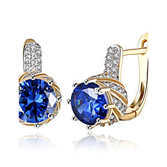 Dames Ring oorbellen Clip oorbellen Diamant Zirkonia Basisontwerp Klassiek Modieus Vintage Bohemia Style Punk-stijl Verstelbaar