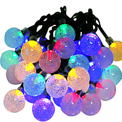 hkv® zonne-lampen 6m 30led rgb waterdichte fee buitentuin kerstfeest decoratie snaarlicht